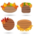 Autumn wood banners with colorful leaves vector image