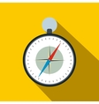 Compass with windrose flat icon vector image