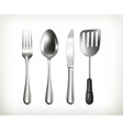 Flatware objects vector image