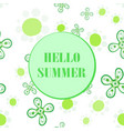 hello summer flyer cover seamless design vector image