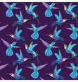 Hummingbird Background - Retro seamless pattern vector image