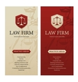 Law office firm or company vertical banners vector image