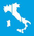 map of italy icon white vector image