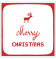 Merry Christmas greeting card47 vector image