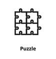 puzzle line icon vector image
