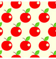 seamless apples background vector image