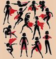 Super heroine in action vector image