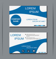 Visiting card design template vector image