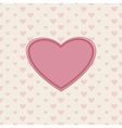 Romantic greeting card with heart vector image