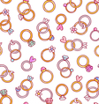 Shiny diamond rings seamless pattern vector image