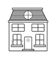 Line house with two floor to have a good home vector image