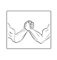 Powerful handshake vector image