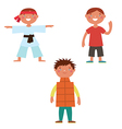 Boys characters vector image