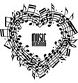 Music heart vector image