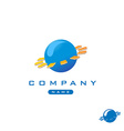 Tech globe logo vector image