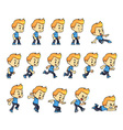 Blue Shirt Boy Game Sprites vector image vector image