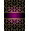 purple and gold background vector image vector image