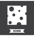 Cheese sign icon Slice of cheese vector image