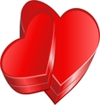 Hearts box vector image