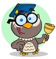 Owl Teacher Cartoon Character vector image