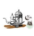 ramadan kareem iftar party celebration eid al vector image