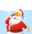 Santa Claus talking on a cell phone vector image