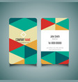 modern business card design 1008 vector image