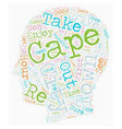 Cape Town In Hours text background wordcloud vector image