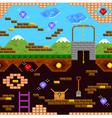 retro game vector image vector image