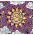 seamless sunny floral pattern vector image