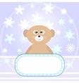 baby bear greetings card vector image
