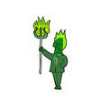 comic cartoon devil with pitchfork vector image