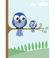mother bird vector image vector image