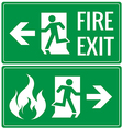 Emergency fire exit door signs vector image