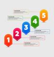 infographics elements five steps process vector image