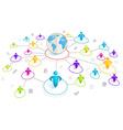 Isometric 3d Social Media Network vector image