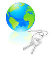 keys to the world concept vector image