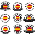 Made in Spain badge set vector image