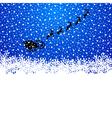 Santa rides a reindeer vector image