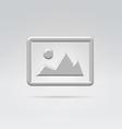 Silver metal image symbol vector image