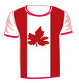 t-shirt with flag canada vector image