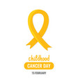 world childhood cancer day vector image