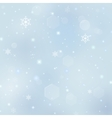 Christmas background with snowflakes stars bursts vector image