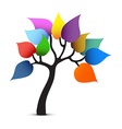 Tree color design vector image