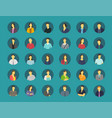 social network relationship person avatars vector image