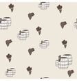 seamless pattern with wine barrels vector image