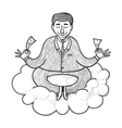 meditating about money vector image