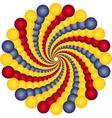 rotating balls vector image
