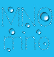 Water Drop Letters On Blue New 05 vector image