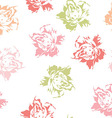 Seamless floral pattern of white pastel roses vector image vector image